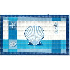 2 Piece Softy Pearl Ocean Cushioned Bath Mat Set