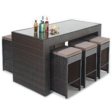Luxe 7 Piece Rectangular Dining Set