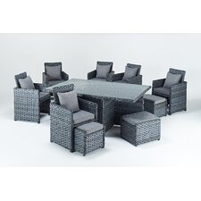 Platinum 11 Piece Rectangular Dining Set