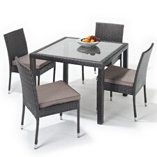 Luxe 5 Piece Square Dining Set