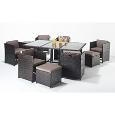 Luxe 11 Piece Rectangular Dining Set