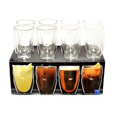 Moderna Artisan Series 12 oz. Double Wall Beverage Glasses (Set of 8)