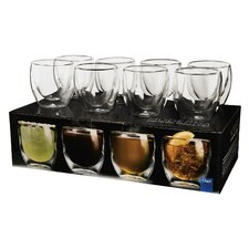 Moderna Artisan Series 8 oz. Double Wall Beverage Glasses (Set of 8)