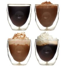 Moderna Artisan Series 2 oz. Double Wall Beverage and Espresso Shot Glasses (Set of 4)