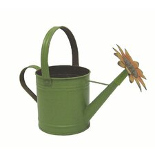 Garden Tin Sunflower Watering Can