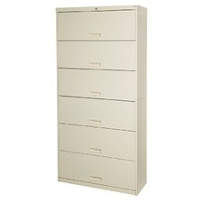 "Stak-N-Lok 100 Series 6 Door 36"" W Letter Size and Locking High Cabinet"