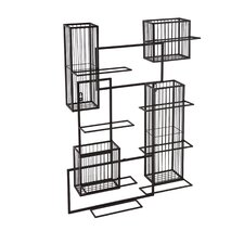 Wisegrid 8 Bottle Wine Rack & Cork Wall Cage