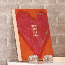 "Swoon Wall Panel ""You Are My Heart"" Painting Print Plaque"