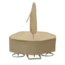 Round Bar Height Table and Chair Cover with Umbrella Hole