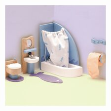 Peppermint Powder Doll House Bathroom Set
