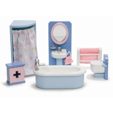 Rosebud Doll House Bathroom Set