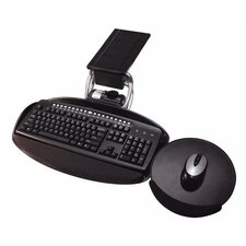 Height and Tilt Adjustable Keyboard with Independent Swivel Over and Tilt Mouse