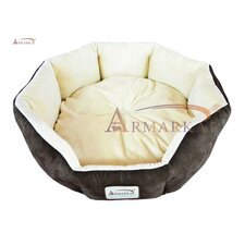 Cat Bed in Mocha and Beige