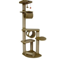 "74"" Classic Cat Tree in Dark Beige"