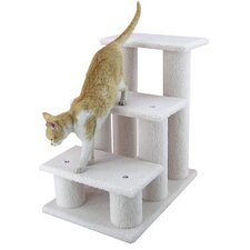 "25"" Classic Three-Step Cat Tree in Ivory"