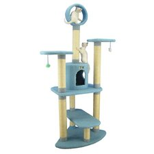 "66"" Classic Cat Tree in Sky Blue"