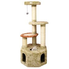 "57"" Premium Soft Heavy Cat Tree in Khaki"