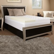 "5.5"" Memory Foam and Fiber Mattress Topper"