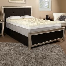 "4"" Textured Memory Foam Mattress Topper"