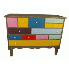 12 Piece Wooden Drawers Set