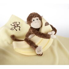 "<strong>Baby Aspen</strong> Plush ""Monkey Magoo and Blankie Too!"" Gift Set"