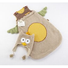 "<strong>Baby Aspen</strong> ""My Little Night Owl"" Snuggle Sack and Cap"