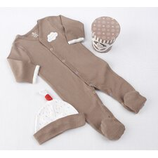"<strong>Baby Aspen</strong> ""Sweet Dreamzzz"" A Pint of PJ's Sleep-Time Gift Set in Chocolate"