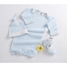 """Welcome Home Baby!"" 3 Piece Layette Set in Blue"