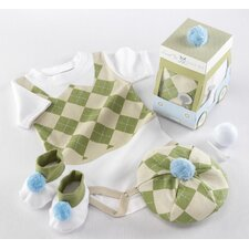 "<strong>Baby Aspen</strong> ""Sweet Tee"" 3 Piece Golf Layette Set"