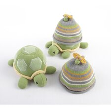 ''Turtle Toppers'' Baby Hat and Turtle Plush Gift Set