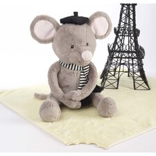 <strong>Baby Aspen</strong> ''Monsieur Le Squeak and Blankie Fantastique'' Plush Mouse and Blanket Gift Set