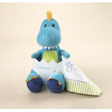<strong>Baby Aspen</strong> ''Just Hatched'' Plush Dinosaur with Lovie