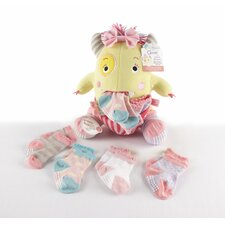 <strong>Baby Aspen</strong> Closet Monsters Knit Baby Socks and Plush Gift Set