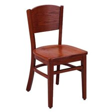 "Select Series 16"" Solid Oak Solid Back Chair"