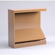 "Stately Series Oak Single Face Periodical 36"" Shelf Bookcase"