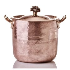 Fiore Hand-Forged Copper 10-qt. Stock Pot with Lid