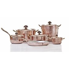 Fiore Hand-Forged Copper 11-Piece Cookware Set