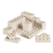 Memorabilia 39 Piece Porcelain My Bricks Figurine Set