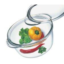 Borosilicate Glass Deep Round Casserole