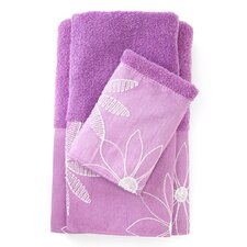 Daisy Stitch 3 Piece Bath Towel Set