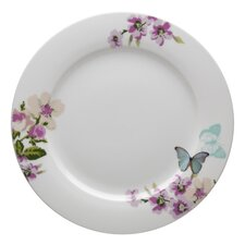 With Love Porcelain Dinner Plate in White