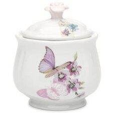 With Love 9.5cm Porcelain Sugar Bowl in Butterflies and Flowers