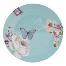 With Love Porcelain Cake Plate in Blue