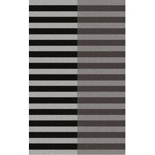 Double Stripe Raven Rug