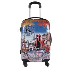 "Nicole Lee 21"" Rolling ABS Hard Case Carry-on Suitcase"