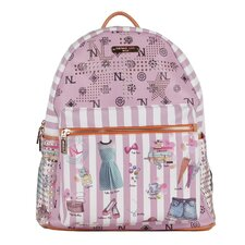 "20"" Doll House Print Backpack"