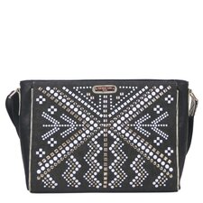 Jolene Geometric Studwork Messenger Bag