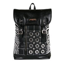 Minerva Zebra Quilted Embellished Backpack