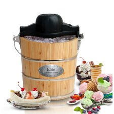 Gourmet 4-qt. Old Fashioned Pine Bucket Electric and Manual Ice Cream Maker