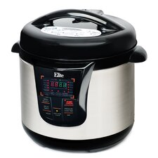 Platinum 8-Quart Electric Stainless Steel Pressure Cooker with 13 Functions